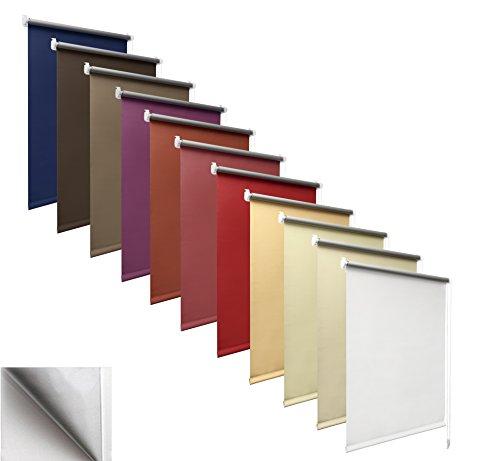 way2way Thermo-Rollo | Weiss 80cm | Smartfix - Klemmfix - ohne Bohren - viele Farben & Größen- komplett verdunkelnd/Blackout
