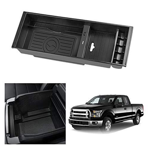 XHAJFNCO Little Rich Man Cargador inalámbrico Qi Teléfono inalámbrico de Carga Accesorios de Placa de Carga Consola Caja de reposabrazos Ajuste para Ford F-150 2015-2020 (Color : Black)