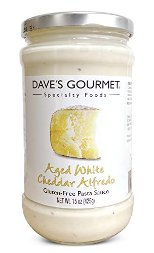 Dave's Gourmet Pasta Sauce Aged American White Cheddar Alfredo, 15 Ounce