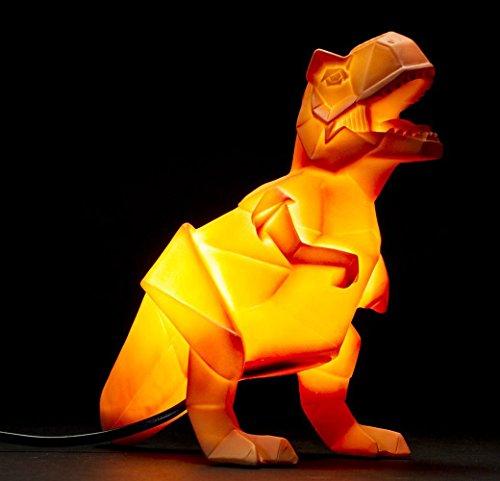 Luz nocturna lámpara dinosaurio naranja Origami T-Rex