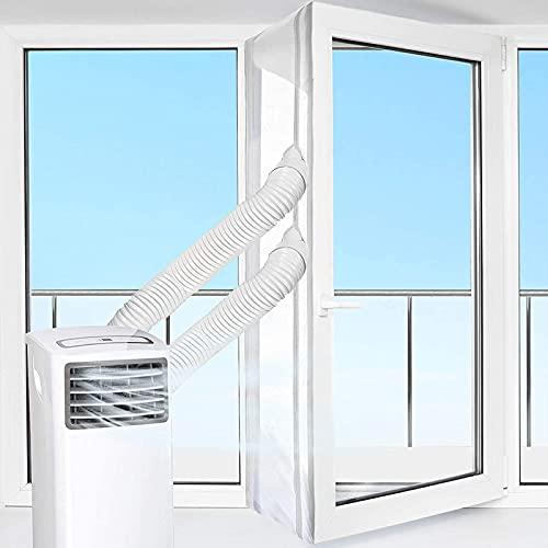 Guarnizione Finestra Climatizzatore Condizionatori Portatili 300-560 cm, Universale Guarnizione Condizionatore Adesiva Soft Cloth Impermeabile per Finestre, per Condizionata Asciugatrice (300cm)