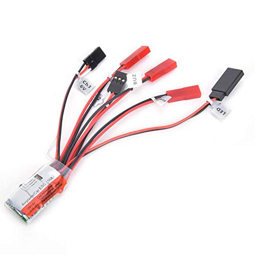 Tbest Controlador de Velocidad de Cepillo RC, Accesorio ESC bidireccional eléctrico 10A...