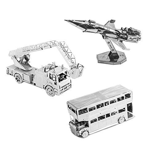 3d Puzzle Ensamblaje 3D Puzzles De Metal Kit De Manualidades De Bricolaje Juguete De Bricolaje Creativo Puzzles Kits De Modelos De Ingeniería Mecánica Regalo De Cumpleaños Para Adultos (Color:3 packs)