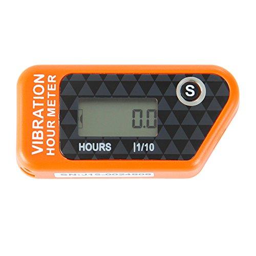 Runleader RL-HM016B orange Vibration Stundenzähler mit Wireless für alle ATV-Benzinmotor UTV dirtbike Motorrad Motorrad-Außenborder Schneemobil pitbike PWC Marine Boot wasserdicht