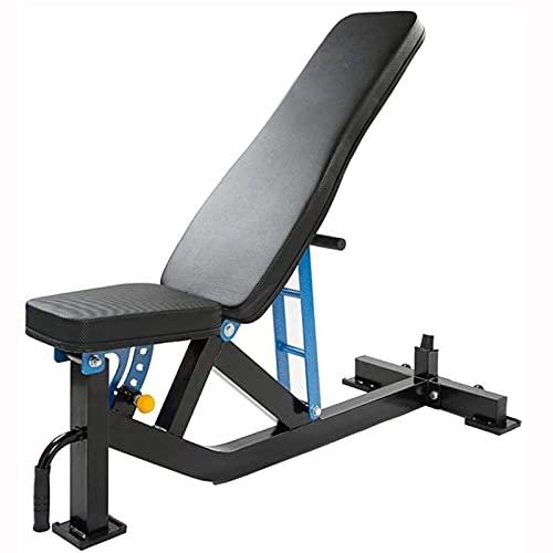 FSJIANGYUE Equipo de Entrenamiento Bancos de Peso estándar Dumbbell Banco Inicio Equipo de Fitness Multifuncional Fitness Bed Sit-Ups Gym Supine Board, Puede Llevar 500kg (Color : Blue)