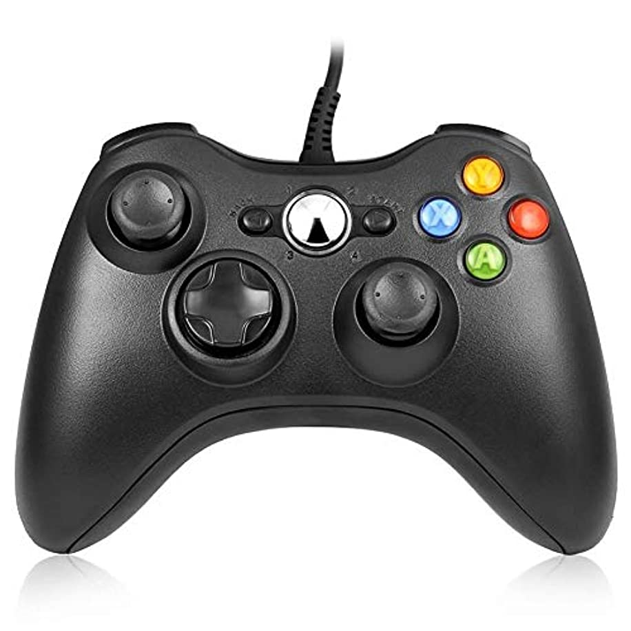 RegeMoudal Xbox 360 PC Game Wired Controller for Microsoft Xbox 360 and Windows PC (Windows 10/8.1/8/7) with Dual Vibration and Ergonomic Wired Game Controller.