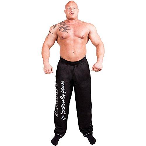C.P.Sports Herren Traininghose S11-1 Body Pant Bodybuilding Hose Fitness Sweatpants Fitnesshose Farbe: Schwarz, Gr.XL