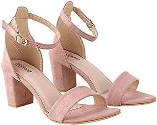 Do Bhai Women Material Synthtic Stylish Fashion Heel Sandal HN-1530-YPB-EU