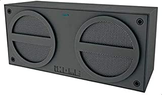 iHome Bluetooth Rechargeable Stereo Mini Speaker in Rubberized Finish - Grey [iBT24GE]