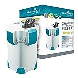 All Pond Solutions Aquarium External Fish Tank Filter 1000 Litre/ Hour Plus 9W UV Light Free Filter Media