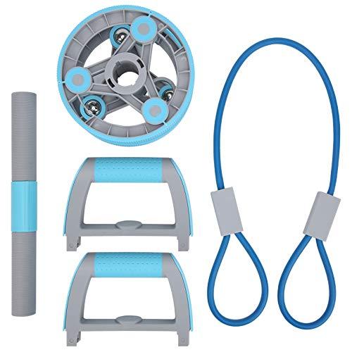 Sdfafrreg Rodillo de Entrenamiento físico, diseño Simple, ocupa un Espacio pequeño Rodillo Abdominal Ejercitador Que se ejercita en Cualquier Momento con el Juego de Ruedas Fitness Abdomen(Blue)