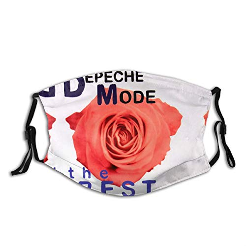 Bestrgi Men Women Balaclava Dust Face Cover Mask Mouth Guard Neck Gaiter The Best of Depeche Mode Volume Reusable Bandanas Daily Variety Head Scarf for Motorcycle Black