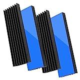 Akuoly Disipadores de Calor de Aluminio 4 Pack con Cinta conductiva térmica para PC port�...