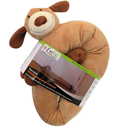 Evelots Dog Draft Stopper-Door/Window-36-Keep Heat in-No Noise/Cold Air-Set/2