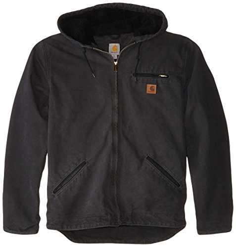 Carhartt Men's Big & Tall Sherpa Lined Sandstone Sierra Jacket J141,Shadow,X-Large Tall