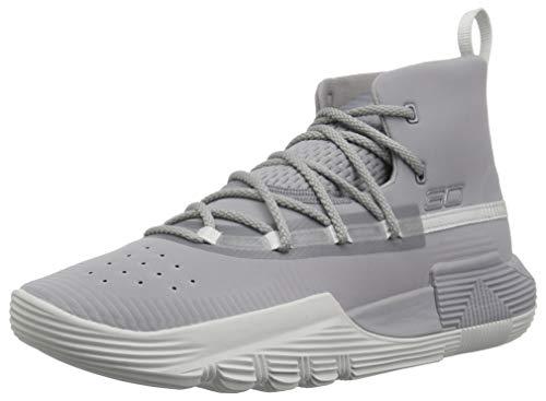 Under Armour Boys' Grade School SC 3Zer0 II Basketball Shoe, Steel (101)/Steel, 5