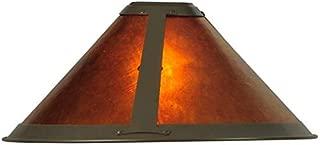 Meyda Tiffany 25962 Van Erp Mica Torchiere Lamp Shade, 15