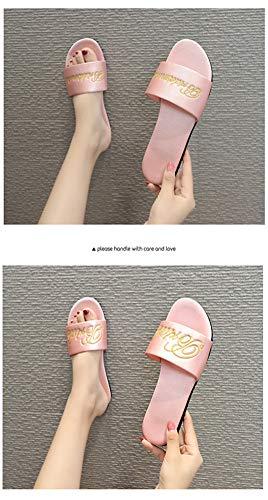 6P6 Deslizadores De Señoras del Bordado De Las Nuevas Zapatillas De Raso...