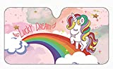 Product Image of the Unicorn Car Windshield Sun Shade Universal Fit Car Sunshade-Keep Your Vehicle...