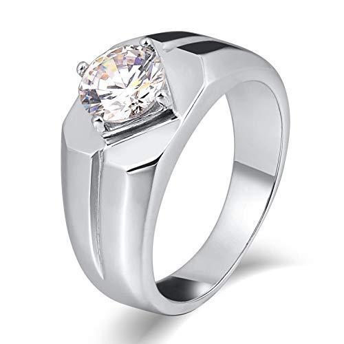 Ubestlove Partnerringe Für Sie Und Ihn Edelstahl Siegelring Personalisiert Runden Signet Ring Silber Silver 61.5