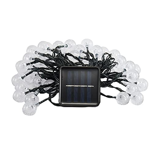 Syfinee - Stringa solare per esterni, 20/30/100 LED, con sfera di cristallo, impermeabile, 8 modalità, per giardino, patio, portico, gazebo, feste, decorazioni estive