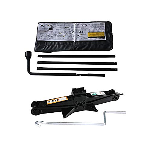 Autobaba Spare Tire Tools Kit + Scissor Jack Set Fit for Chevrolet Chevy GMC Silverado Sierra - with Carrying Case Bag
