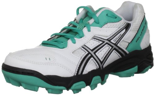 4digital Media Asia Gel Lethal Mp5 Womens, Damen Feldhockeyschuhe, Weiß - Bianco (White/Black/Green) - Größe: 42 (7.5 UK)