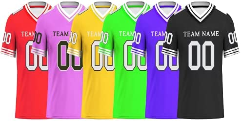 Custom Football Jerseys Fashion Sports Personalize Stitched Team Name Number Birthday Gifts Jersey for Men/Women/Youth