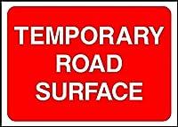 警告一時的路面路面安全標識