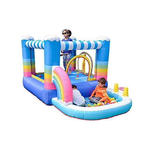 WANGZI Parque acuático Bouncy Castle Safe Inflable Mega Bouncy Water Park para Niños Piscinas para Jardín Exterior Patio Trasero