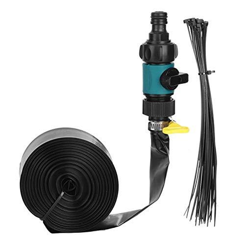 Aigid Kühlschlauch, Gartentrampolin Wassersprinklerschlauch Außenkühlung Bewässerungswerkzeug Sommer Kinder Wasserspielzeug(12m)