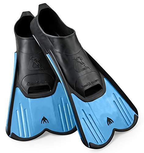 Cressi Light Swim Fin, Designed and Manufactured in Italy, Blue - Men's, 5.5/6.5 | Women's, 7.5-8.5 | EU 39-40
