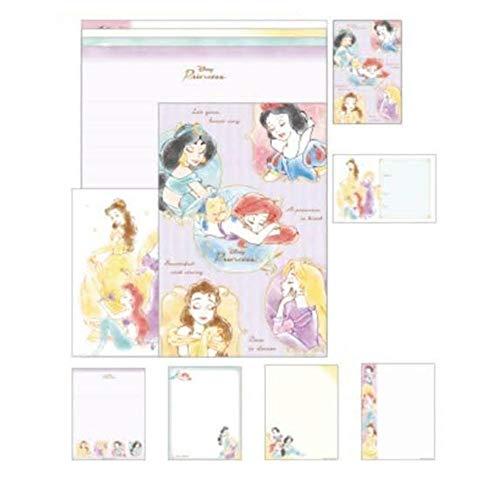 カミオジャパン レターセット ディズニー ボリュームアップ A5 便箋28枚 封筒14枚 日本製 (17541 プリンセス)