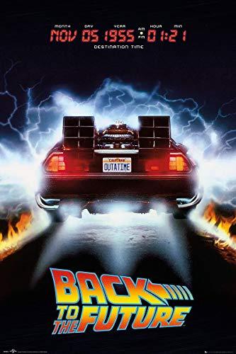 Licensed Back To The Future DeLorean Maxi Poster, 61 x 91.5cm
