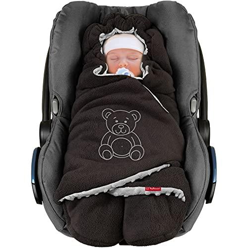 """ByBoom Baby Copertina invernale avvolgente per il bebè""""l'originale con l'orsetto"""", universale per ovetto, seggiolino auto, p.es. per Maxi-Cosi, Römer, per passeggino, buggy o lettino"""