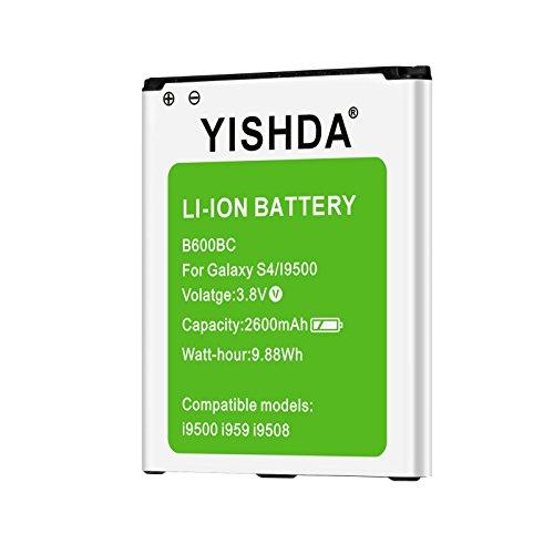 Galaxy S4recargable, yishda 2600mAh Li-ion Batería de repuesto para Samsung Galaxy S4I9500I9505, M919y i545L720| Samsung S4batería de repuesto