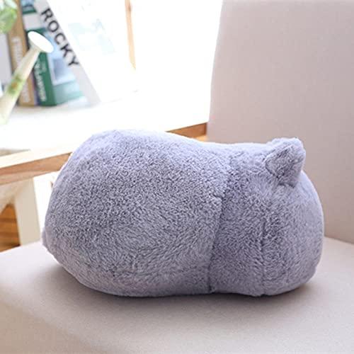CPFYZH Lindo Gato de Felpa Juguete Sombra Gato muñeca Regalo para niños muñeca Lindo Animal Juguete decoración Suave Almohada-Gris