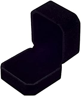 Wgg Velvet Ring Jewelry Storage Box Gift Box, Ring Earrings Jewelry Counter Display Props (Black)