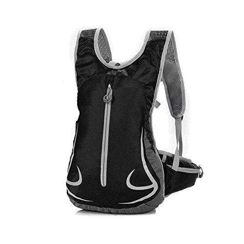 Freien Rucksäcke, EULANT Unisex 14L Ultraleicht Fahrrad Reise Wander Sportrucksack, Wasserdicht Reiserucksack für Laufen Skifahren Camping Trekking Bergsteigen Radfahren Schultertaschen (Schwarz)