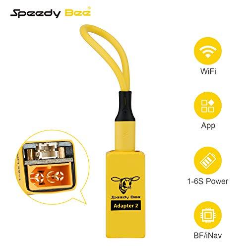 Makerfire Adattatore SpeedyBee 2 Porte Micro USB Cavo Stile Cordino Supporto WiFi e connettori XT60 e PH2.0 integrati Ingresso Alimentazione 1-6S per Quadricottero Betaflight