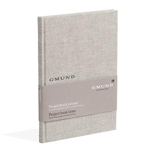 Gmund Papier Projektbuch Leinen Textil 120 Seiten (Konzeptbuch Heißfolienprägung 20,3 x 28,8 cm)