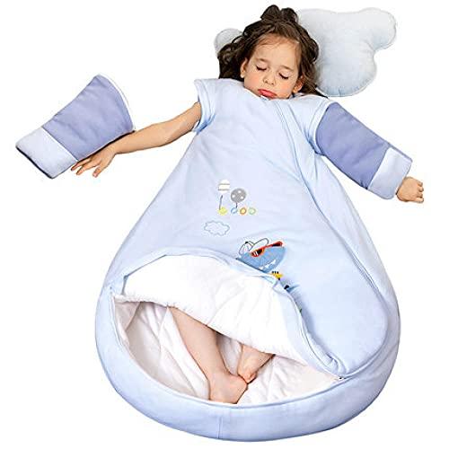 Hushj Saco de Dormir de Invierno para bebé, Piel de algodón Antideslizante, habitación con Aire Acondicionado, Manta de jardín de Infantes cálida para Exteriores