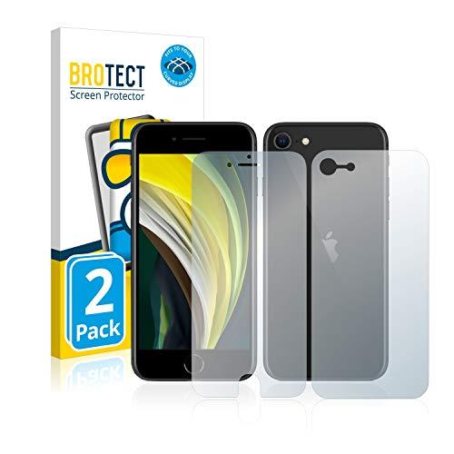 BROTECT Protector Pantalla Completa Compatible con Apple iPhone SE 2 2020 (Frontal + Trasera) (2 Unidades) 3D Curvo