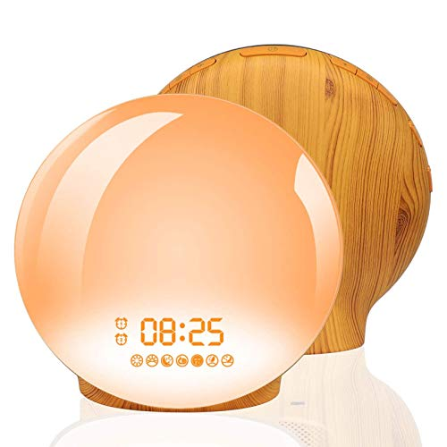 Wake Up Light Alarm Clock, Homagical Sunrise Alarm...
