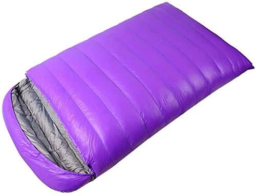 Wuyeti Doble Bolsa, Gran Dormir for Adultos y Niños - Excelente Equipo de Camping Gear, Viajar y Actividades al Aire Libre, púrpura
