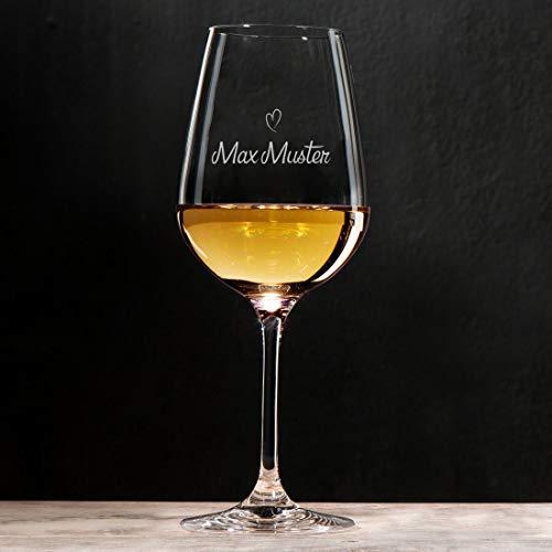 Manutextur Weißweinglas mit Spruch - viele Motive - mit individueller Gravur - personalisiert - Wein-Glas - persönliches Geschenk