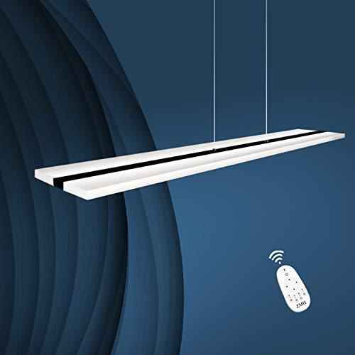 ZMH LED Pendelleuchte Büro 38W Dimmbar mit Fernbedienung Pendellampe esstisch höhenverstellbar Hängeleuchte aus Acryl Panelleuchte für Hängelampe esstisch, Arbeitszimmer, Wohnzimmer