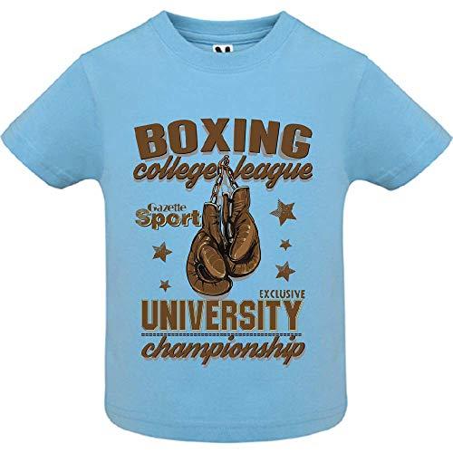 LookMyKase T-Shirt - Boxing League - Bébé Garçon - Bleu - 18mois