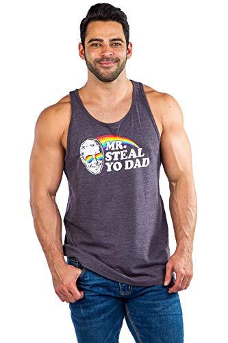 Men's Mr. Steal Yo Dad Tank Top - Pride: Black, XL