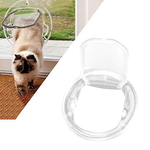HYLH Katze/Hundeklappe Katzentür Große Katze/Kleine Hundeklappe Transparent für Glasfenster